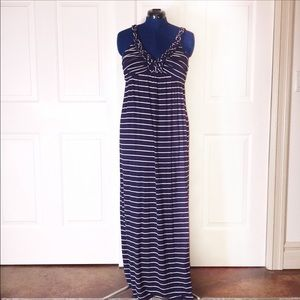 Design History Large striped maxi dress
